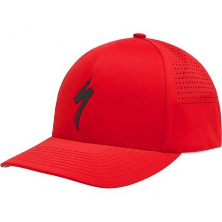 Delta Flexfit Hat S-Logo Red/Blk Osfa