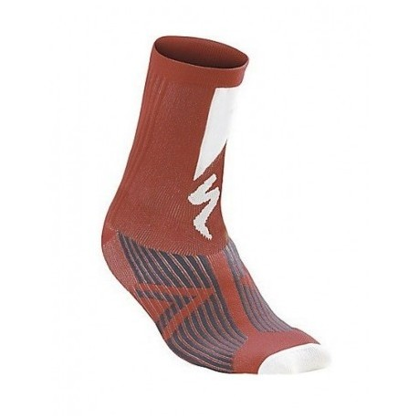 sl elite sock m rojo/blanco