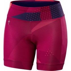 Shasta Cycling Short Wmn Shdw Bars/Bry M