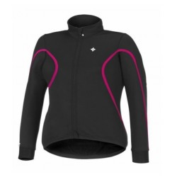 SOLID PARTIAL JACKET WMN BLACK PINK S