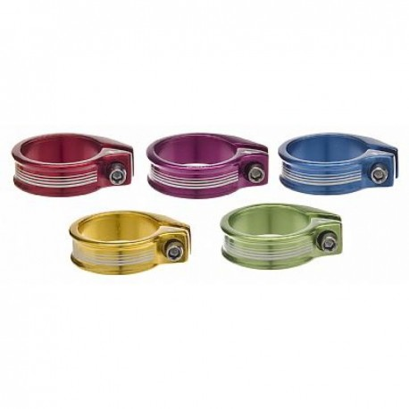ANODIZE SEAT COLLAR BOLT-ON AZUL 37MM