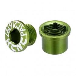 KCNC Tornillo / Tapon para Biela IZQ Shimano  verd