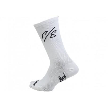 Road Tall Sock Sagan Coll Wht Ovrx L