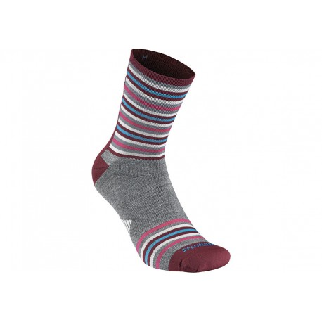 FULL STRIPE WINTER SOCK GRY/PUR S
