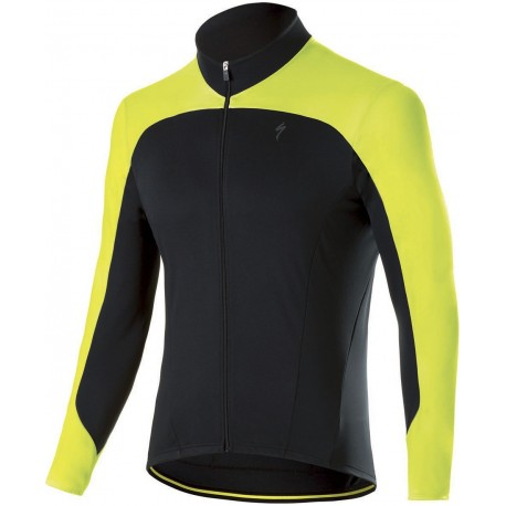 THERMINAL RBX SPORT JERSEY LS BLK/NEON YEL S